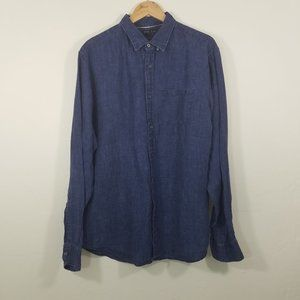 Banana Republic Long Sleeve Linen Shirts Size XL